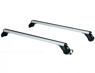 Roof rack with sturdy aluminium alloy supporting structure LP49