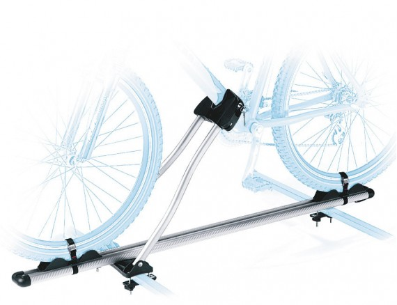 Bike carrier ROMA for use with roof bars up to 70 mm wide